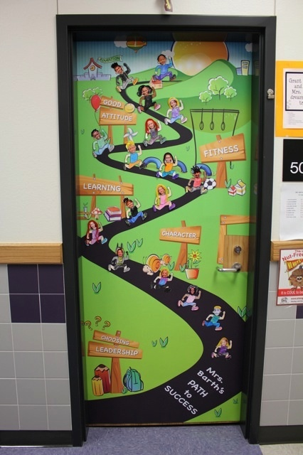 Path to Success bulletin board-- Would love to get the teachers to decorate their doors! ! Comstock Elementary in Dallas, TX