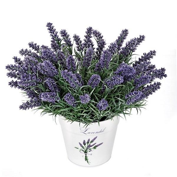 Maceta ramas artificiales flor lavanda. http://www.lallimona.com/online/flores-y-plantas-artificiales/