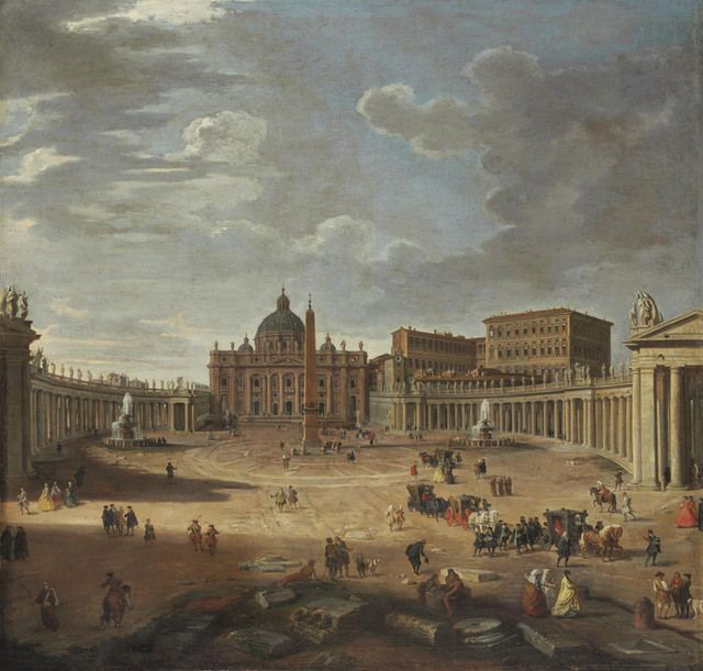 Giovanni Paolo Panini   View of Saint Peter's Square, Rome   Artsy