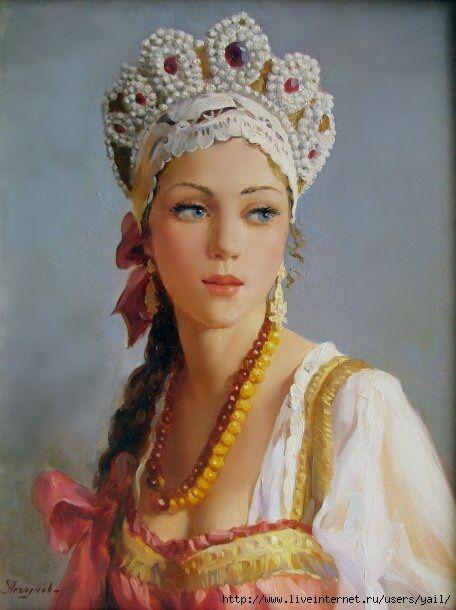 Jeunne fille en costume russe (456x610, 169Kb)