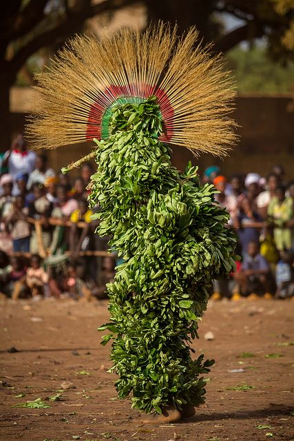 Festival des Masques de Dédougou, Burkina Faso The festival of masks in Burkina Faso including masks, leaves, fiber masks, feather masks, white masks, masks with straw masks skins