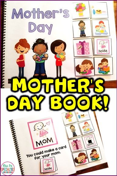 Build language and reading skills while teaching about ways to be kind to mom on Mother's Day. This book set is perfect for special education classes, speech therapy, preschool activities and life skills programs.