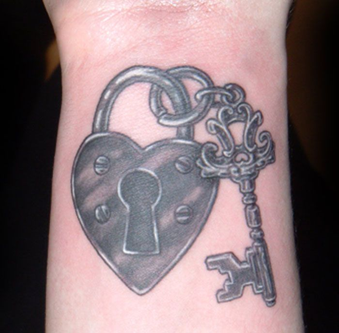 Black And White Heart Tattoos for Women