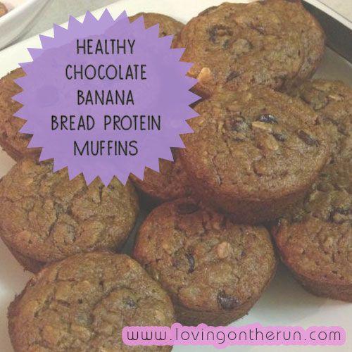 ... Chocolate Banana Bread Protein Muffins!! www.lovingontherun.com