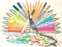 Promarker Love made with Letraset Markers