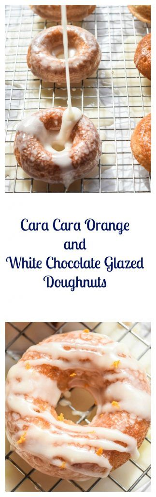 Cara Cara Orange and White Chocolate Glazed Doughnuts are an easy, delicious, and indulgent sweet treat perfect for a breakfast or brunch and they're baked! | Beer Girl Cooks