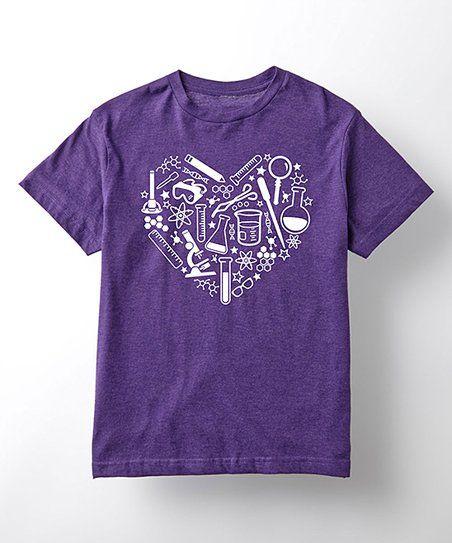 Purple Science Equipment Heart Tee - Toddler & Girls | zulily
