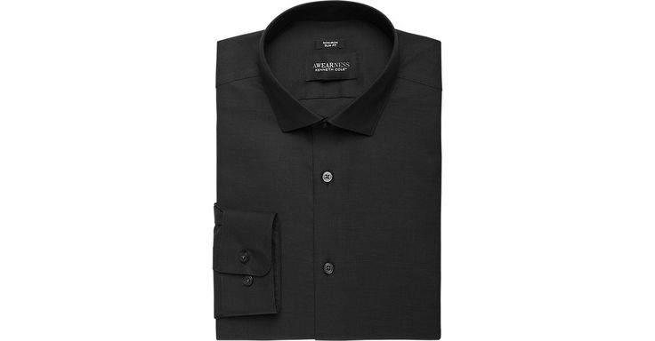 Check this out! Awearness Kenneth Cole Black Tic Slim Fit Dress Shirt - Dress Shirts from MensWearhouse. #MensWearhouse