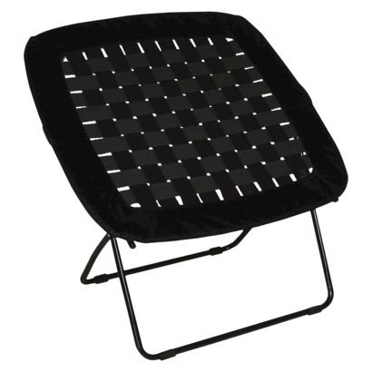 waffle bungee chair. I like the turquoise one:) Perfect for dorm rooms because it folds up flat.