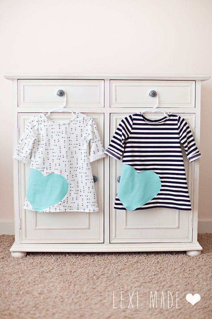 Knit Heart Dress Tutorial