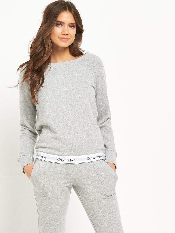 f8ba011f5e Calvin Klein Modern Cotton Lounge Sweater From their Modern Cotton ...