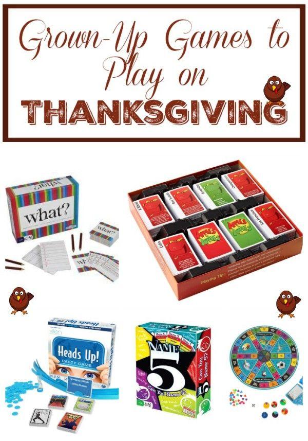 Thanksgiving Entertainment Fun Games To Play While