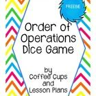 This FREE product provides great practice in critical thinking and problem solving using numerical expressions.  Order of Operations Dice can be played ...