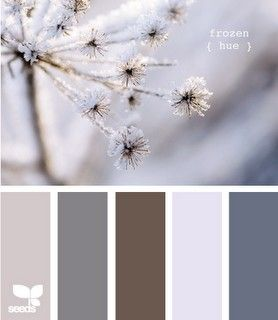 Bedroom. Blue, brown & grey color palette