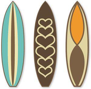 Silhouette Design Store - View Design #26830: 3 retro surf boards