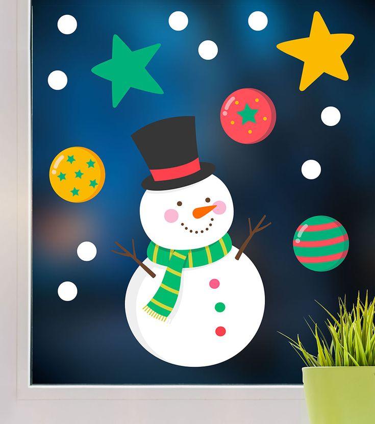 F 26 Weihnachtsmotive 1 Schneemann Basteln Fensterbild Weihnachten Zeichnung Fensterbild Schneemann
