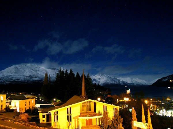 Queenstown during winter is a dramatic white landscape.