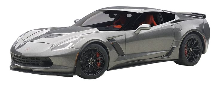 Chevrolet Corvette Stingray C7 Z06 Dark Silver 1/18 by Autoart 71264. Brand new box. Rubber tires. Detailed interior, exterior. Dimensions approximately L-10, W-4.5, H-3.5 inches.