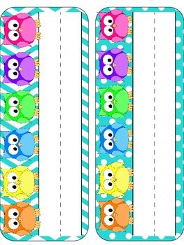 Everything Owls Classroom Pack  INCLUDES Editable Owls