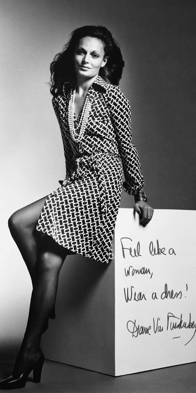 Diane von Furstenberg Wrap Dress 1973 -- the reason I need to learn to sew.