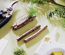 Evergreen Place-Card Holders - Christmas Table Settings - Christmas Workshop - MarthaStewart.com