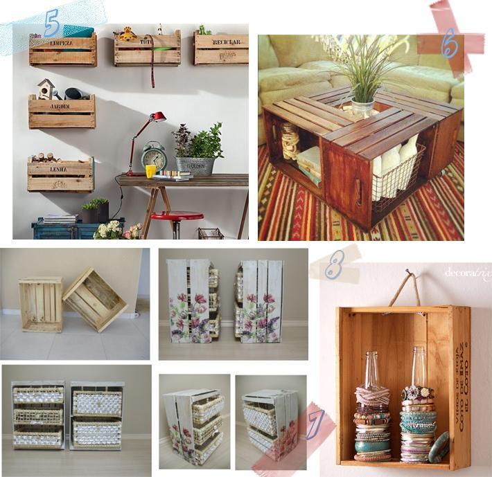 Muebles De Cajas De Fruta Estanteras Y Otros Muebles Cajones Para - Cajas-de-fruta-recicladas