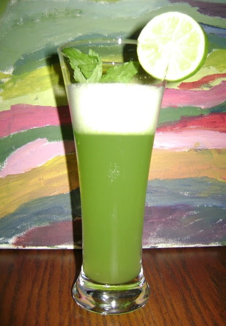 Una refrescante limonada de menta.