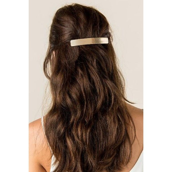 Ardalia Minimalist Barrette (16 CAD) ❤ liked on Polyvore featuring accessories, hair accessories, bobby pin, hair, metal hair accessories, metal hair clips, snap hair clips, barrette hair clips and hair clip accessories