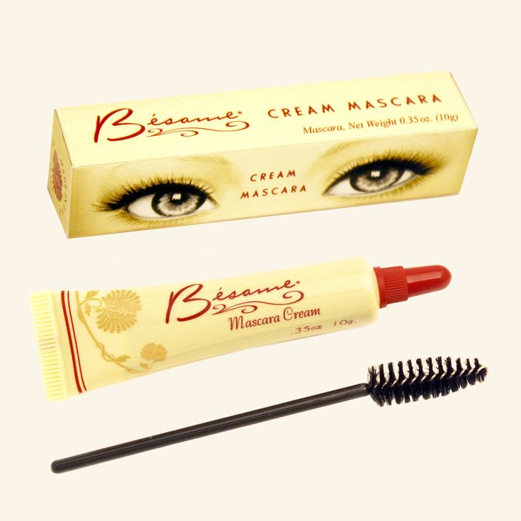 1940s Cream Mascara This lovely mascara can be used as a liner, too.