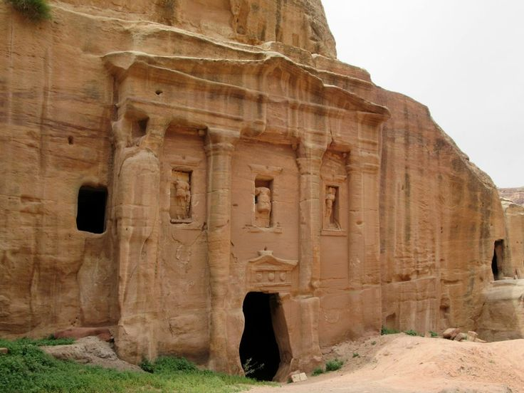 The Soldier's Tomb at Petra, Jordan, gets its name from the figure of a military officer in the central niche. The tomb was built in the late 1st century AD Nabataean period and later remodeled by the Romans.