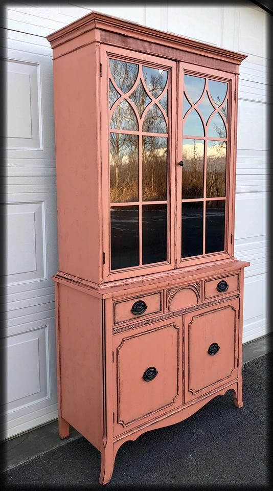 DIY Furniture Refinished in Gingers Blush by Chalky Chicks Furniture Paint. Chalk Paint projects
