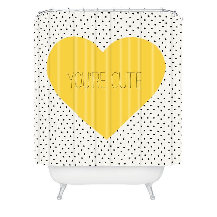 """Allyson Johnson You Are Cute Shower Curtain   DENY Designs Home Accessories extra long = 94"""""""