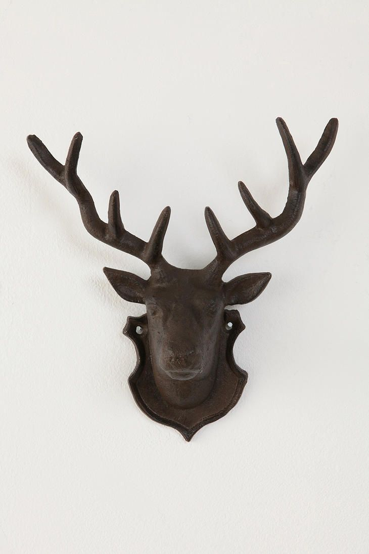 101 best deer heads and silhouettes images on pinterest deer deer head hook urban outfitters amipublicfo Images