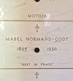 https://en.wikipedia.org/wiki/Mabel_Normand-Rest Peacefully. Crypt of Mabel Normand, at Calvary Cemetery
