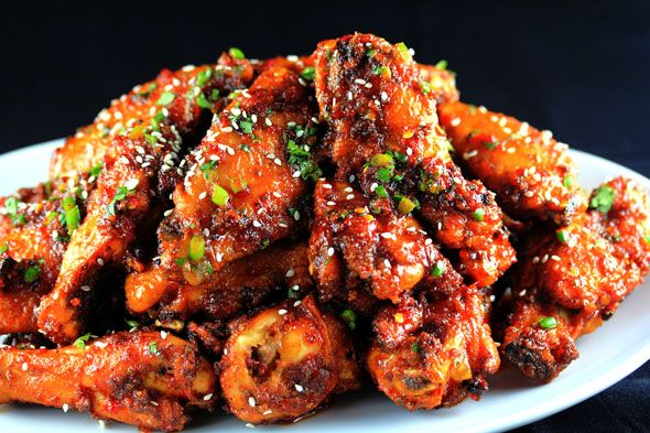 Sweet-n-Spicy Garlic and Ginger Chicken Wings   Carnal Dish