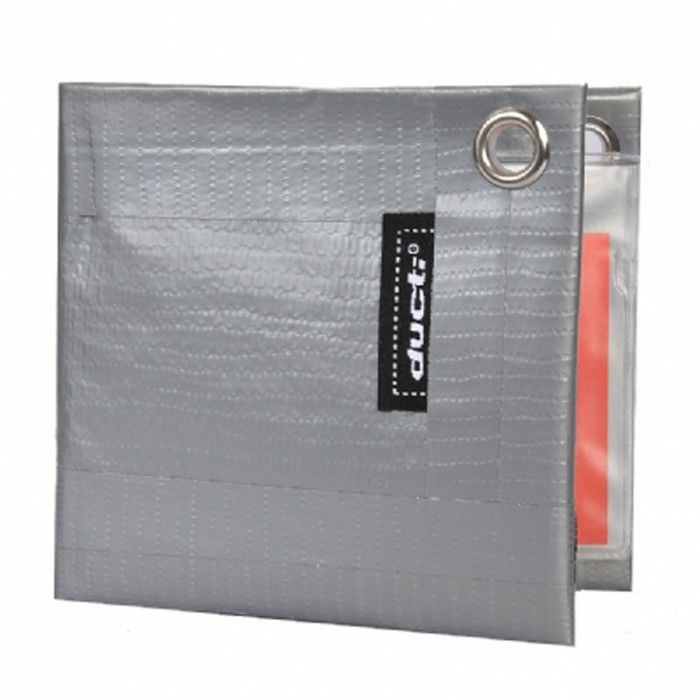 Ducti Classic Silver Super Duct Tape Bifold Wallet