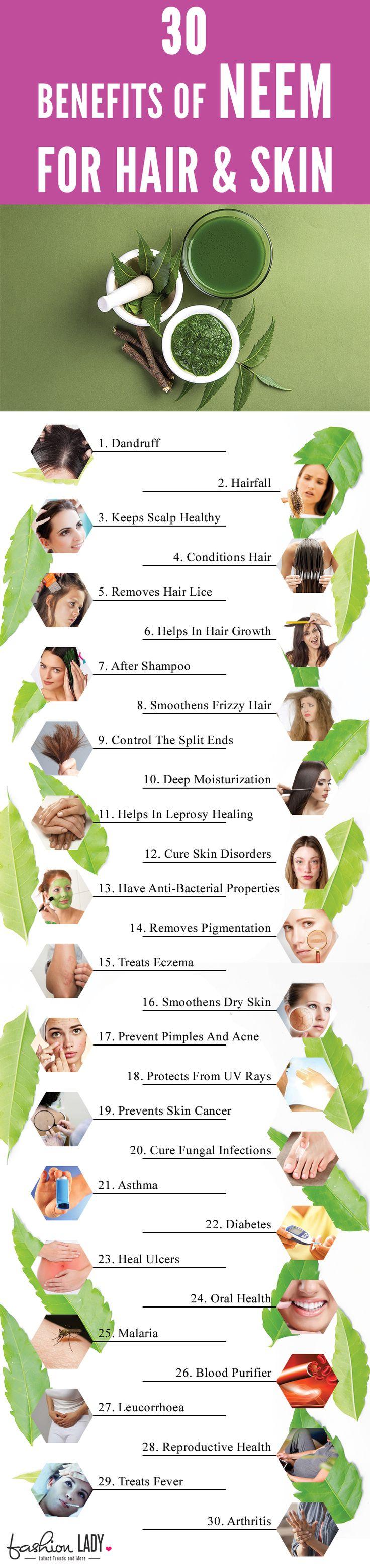 30 Benefits Of Neem for Hair & Skin
