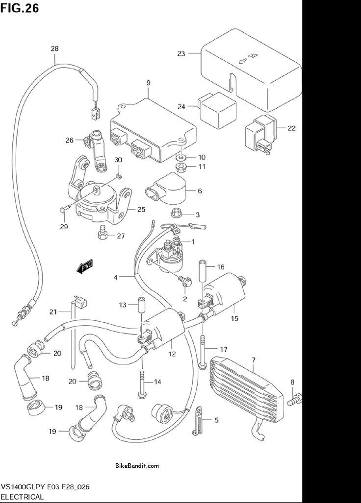 2003 Suzuki Vs1400glp Intruder Electrical Parts  2003