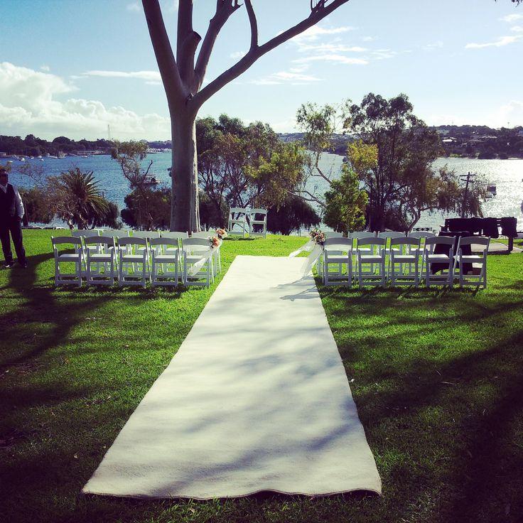 Wedding Ceremony at Quarantine Park in Bicton