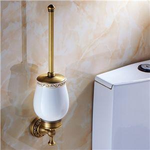WC Bürstenhalter Antik Messing Badezimmer Garnitur