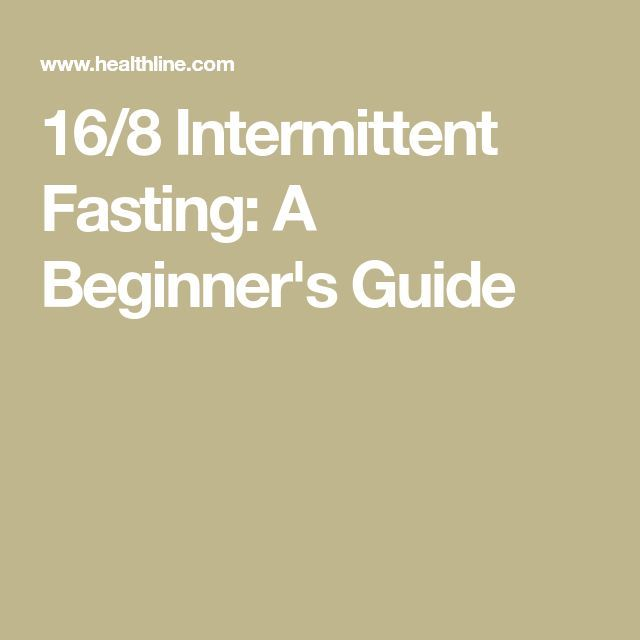 16/8 Intermittent Fasting: A Beginner's Guide – #Fastingforweightloss #Healthyea…