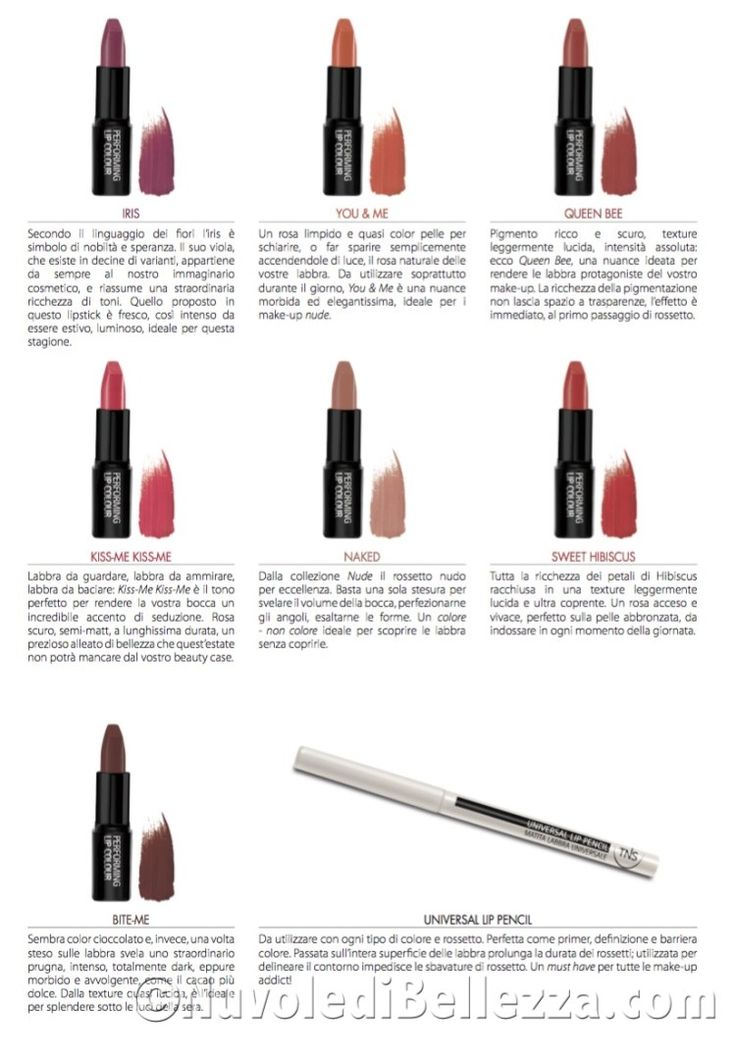 Rossetti TNS Cosmetics: Lipstick Collection - Nuvole di Bellezza