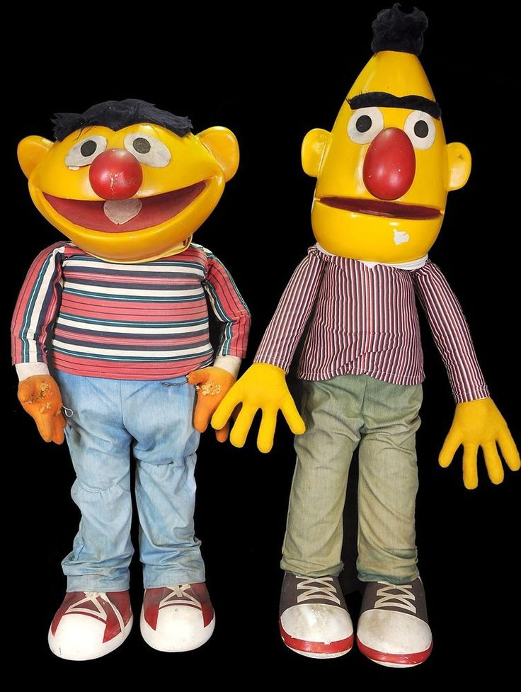 Very Rare Vintage Puppets Bert Amp Ernie Life Size Muppets