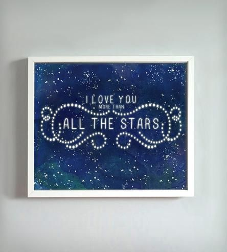 Yes. :: All the Stars Print by Gus + Lula