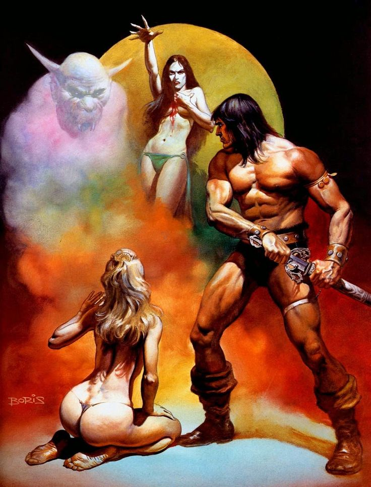 The Geeky Nerfherder: #VallejoTuesday: 'Conan The Freebooter' by Boris Vallejo
