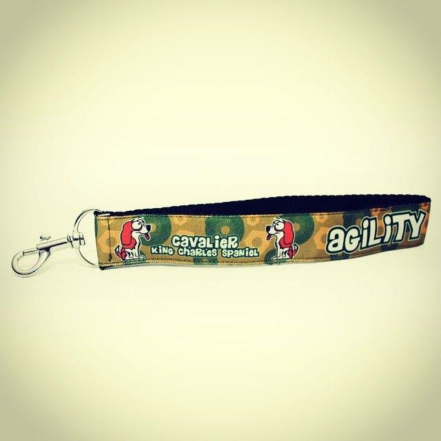 "Přívěsek ""Cavalier"" | Key ring ""Cavalier"" #keyring #cavalier #camo #dog #agility #blackberry #privesek #handmade #rucni_prace"