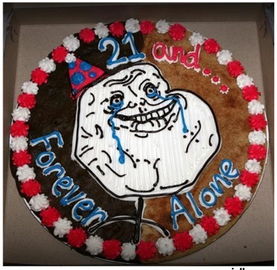 19 Marvelous Meme Cakes | SMOSH: Funny Cakes, Happy Birthday, Memes Cakes, Internet Memes, Comic Cakes, Funny Stuff, Birthday Memes, 20Th Birthday, Birthday Cakes