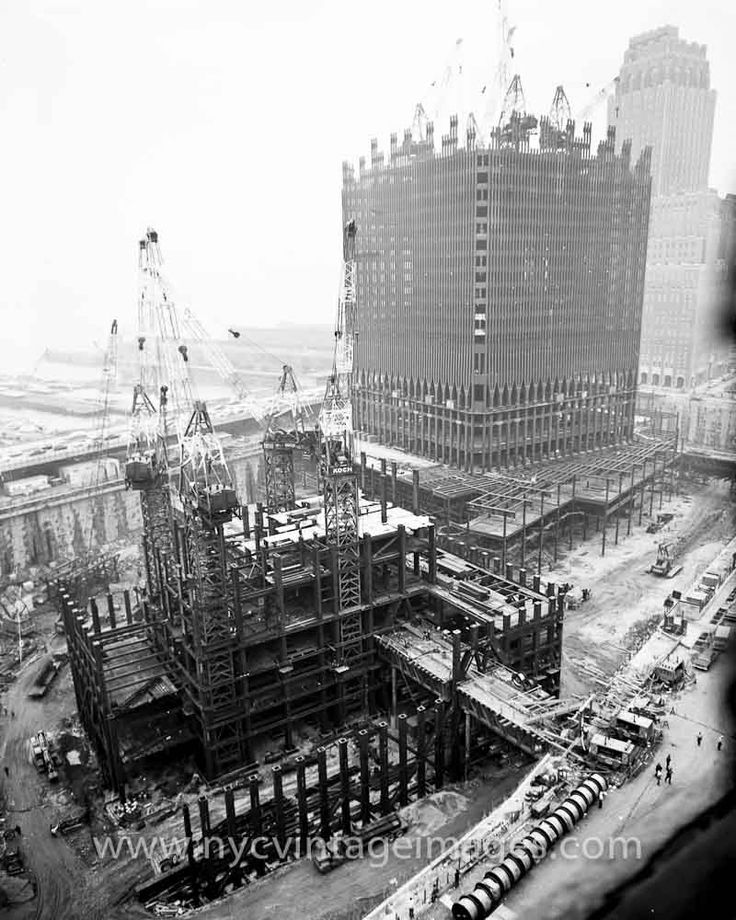 World Trade Center Under Construction, June 27, 1969 ...