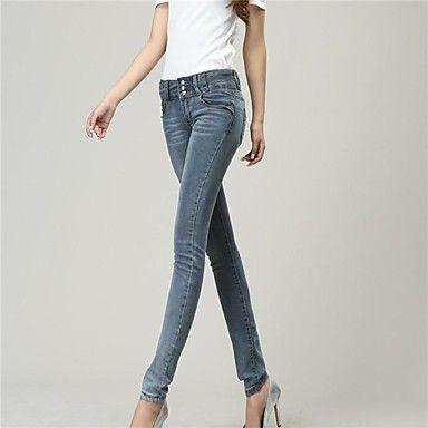 vrouwen hoge taille denim skinny jeans - EUR € 18.17