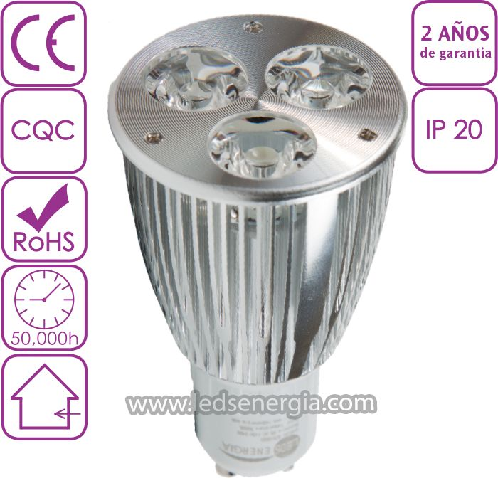 Bombilla LED Dicroica 6W GU10